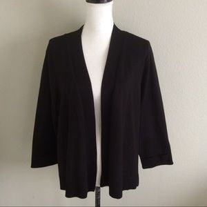 89th & Madison Black Open Front Cardigan